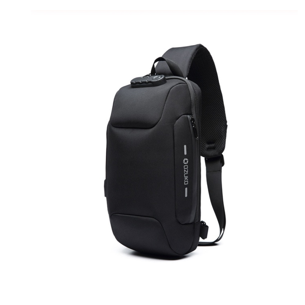 OZUKO Anti-diefstal Crossbody Tas - Waterdicht schoudertas - Borsttas met USB